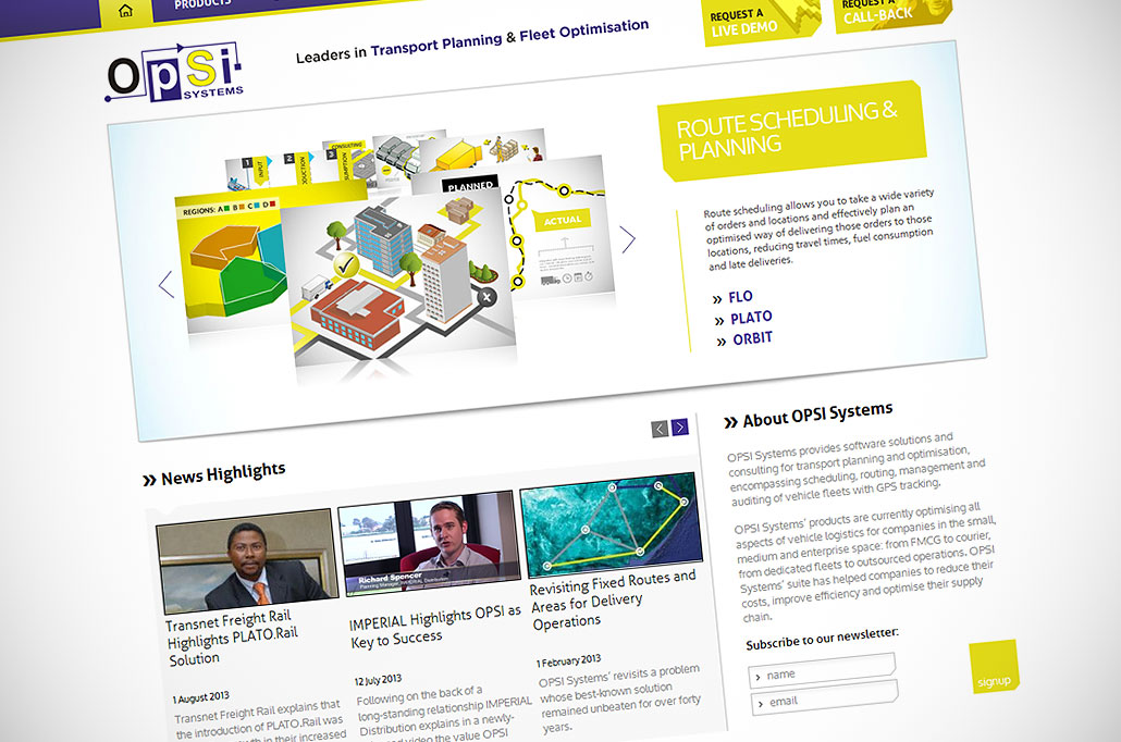 OPSI Systems: graphic design